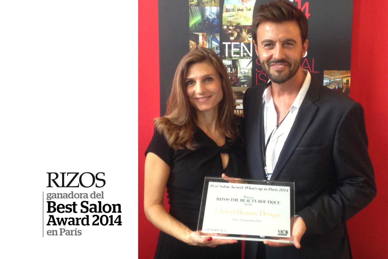 Rizos premiada en par s con el best salon award rizos for Best hair salon in paris france
